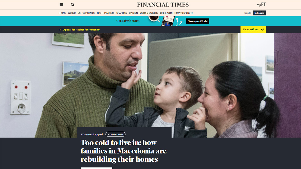 Habitat Macedonia's work featured in Financial Times