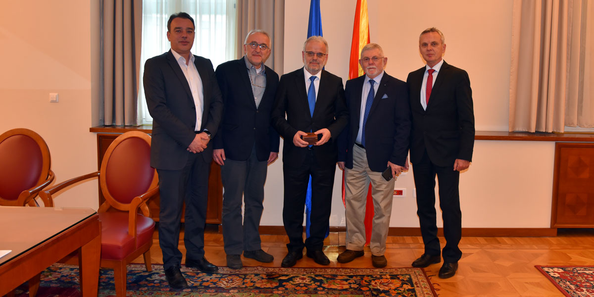 Habitat Macedonia representatives welcomed by the President of Macedonian Parliament